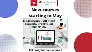 AFDY New courses May 2021