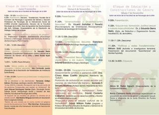 I Seminario Multidisciplinar de Orientación e Identidad de Género: Desafíos y Oportunidades