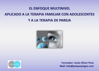 """Seminario online sobre """"El enfoque multinivel aplicado a la terapia familiar con adolescentes y"""