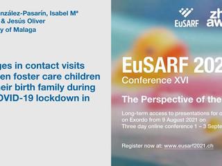 Comunicación en EUSARF 2021 sobre visitas durante el confinamiento COVID-19 de los niños acogidos