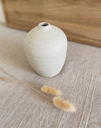 Skjell vase med striper
