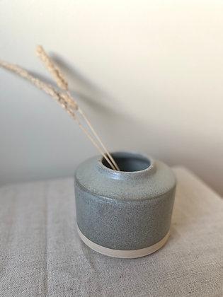 Vase med mint/grønn/grå-glasur