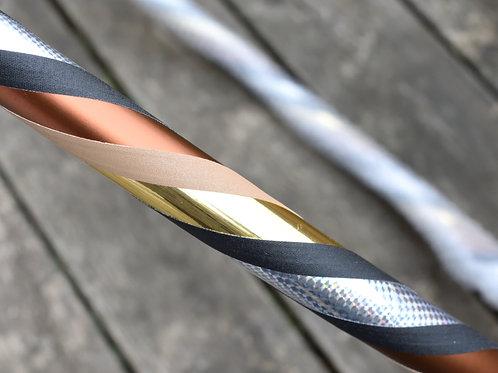 XL Hula Hoop Einzelstück - 'Silber-Gold' - 120cm