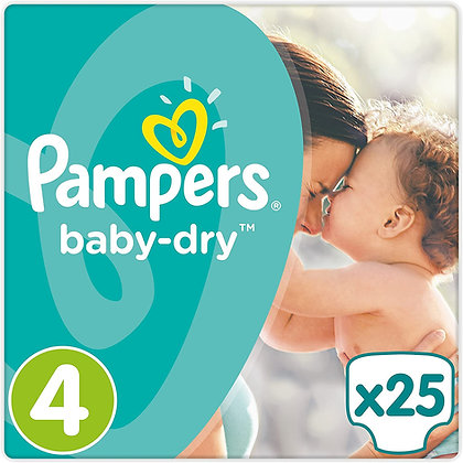 Pampers Baby-dry Nappies Size 4, pack of 25