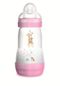 MAM Easy Start Anti-Colic Self-Sterilising Bottle Pink 260ml