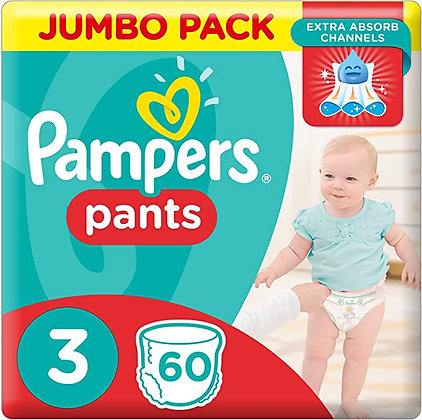 Pampers Baby-dry Nappy Pants Size 3, 6-11kg 60s