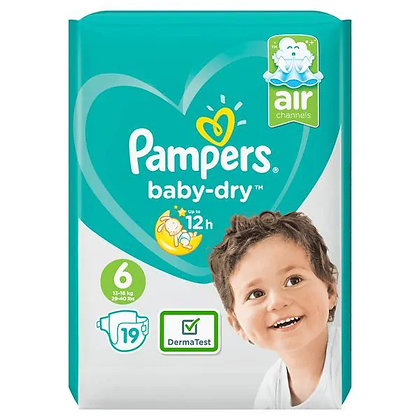 Pampers Baby-dry Nappies Size 6, pack of 19