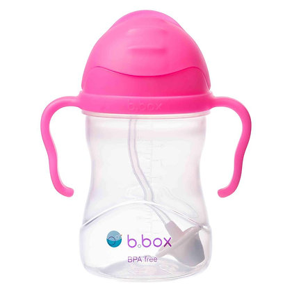 B.Box childs sippy Cup in colour Pink Pomegranate