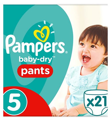 Pampers Baby-dry Nappy Pants Size 5, pack of 21