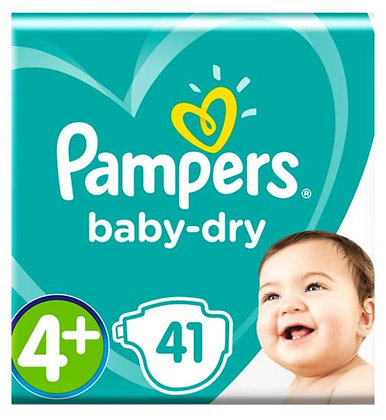 Pampers Baby-dry Nappies Size 4+, 10-15kg