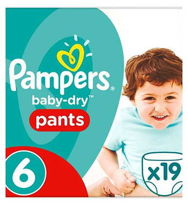 Pampers Baby-dry Nappy Pants Size 6, 15kg+