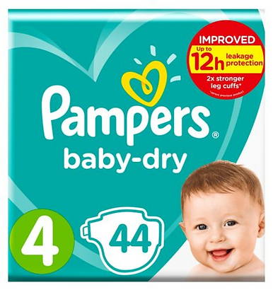 Pampers Baby-dry Nappies Size 4 pack of 44