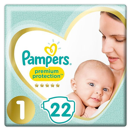 Pampers Premium Protection Nappy Size 1, pack of 22