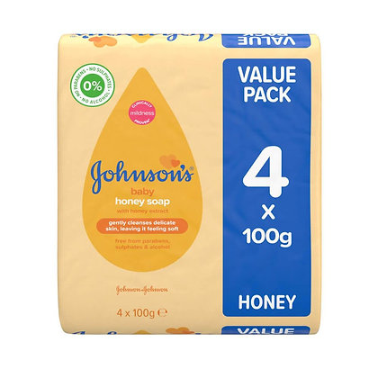 Johnsons Baby Honey Soap 4x100g