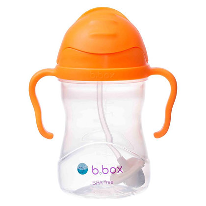B.Box childs sippy Cup in colour Orange Zing