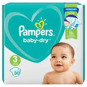 Pampers Baby-dry Nappy Size 3, 6-10kg
