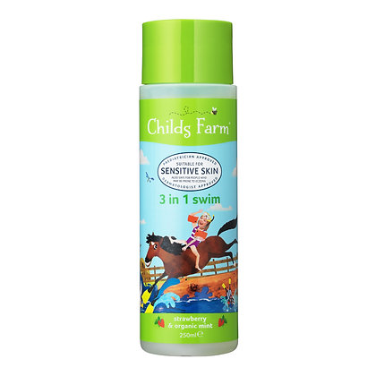 Childs Farm 3 In 1 Swim Strawberry and Organic Mint Shampoo and Body Wash 250ml