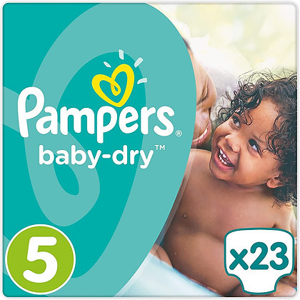 Pampers Baby-dry Nappies Size 5 with 23 in the pack