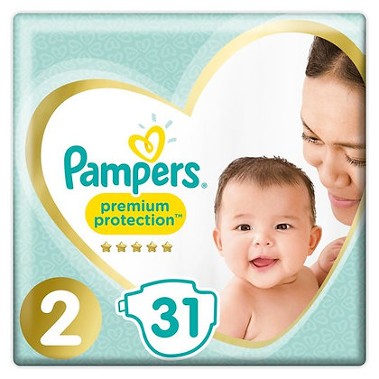 Pampers Premium Protection Nappies Size 2 pack of 31