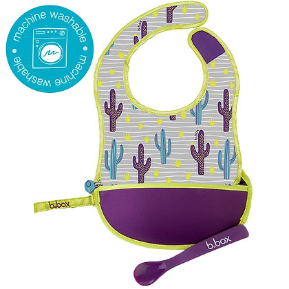 B.Box Travel Bib in colour Cactus Capers
