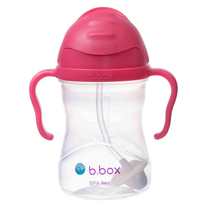 B.Box childs sippy Cup in colour Raspberry
