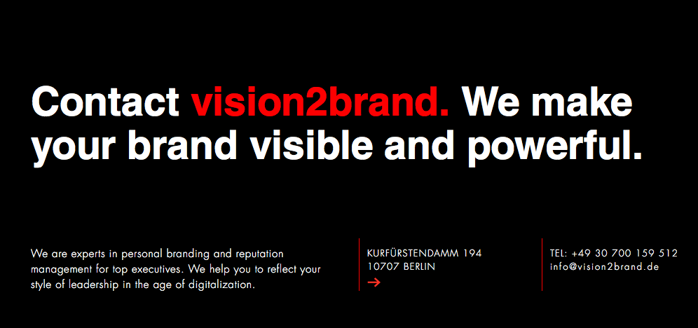 vision2brand | Contact - Personal Branding, Reputation Management