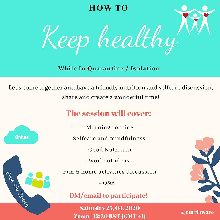 Keep Healthy while in Isolation