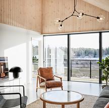Träpanel på väggar och i tak