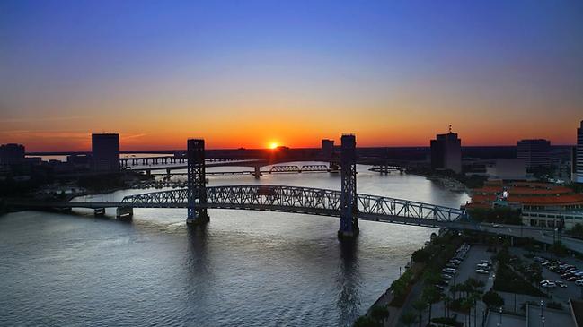 Bail Bonds Resources Concept for Downtown Jacksonville Florida, Duval County