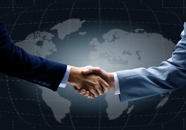 executives shaking hands in approval Customer satisfaction bail bond process bail bondsman services