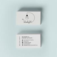 Logodesign med visitkort - Deluxlight