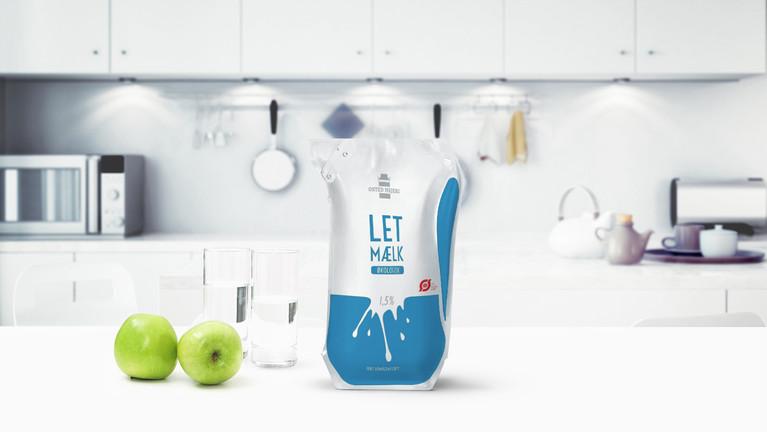 Emballagedesign - Osted Mejeri Letmælk