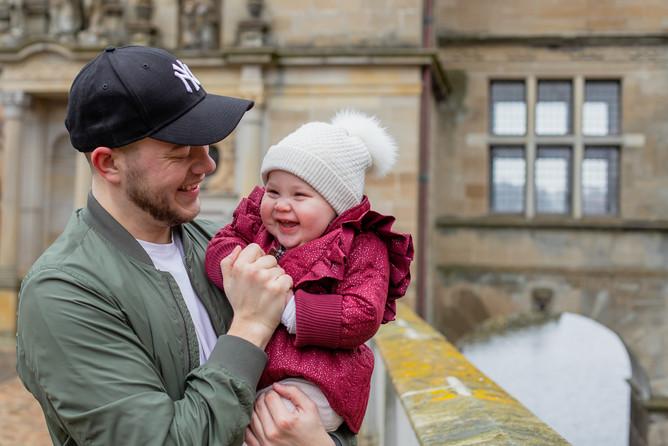 Portrætfotografering - far og datter