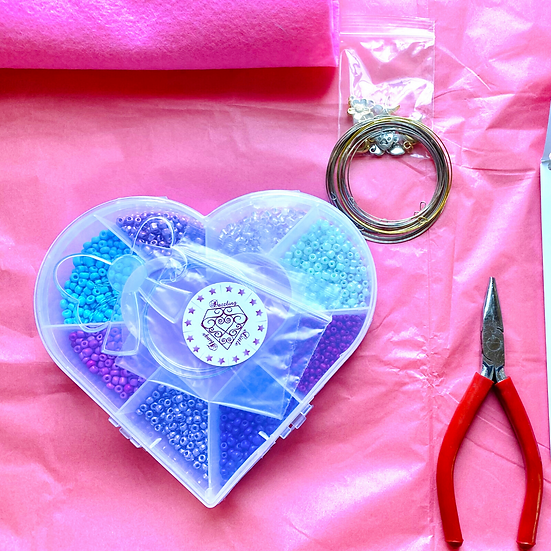 Heart shape BeadBox Project Bundle