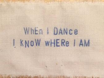 When I dance...
