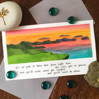 Lyrics Postcard