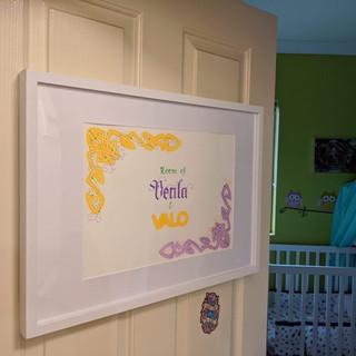 Venla & Valo Room Sign