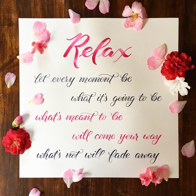 Relax Quote Wall Art