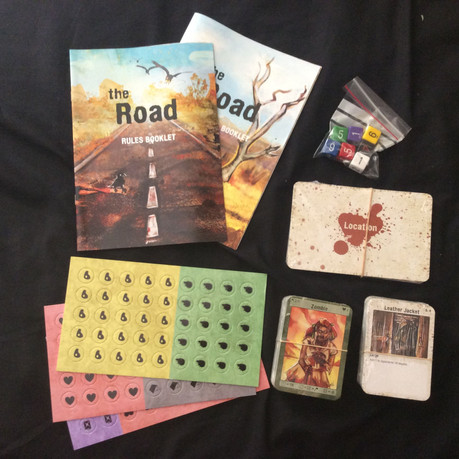 The Road game components