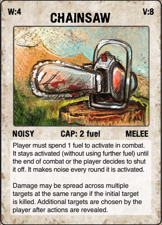 The Road example card