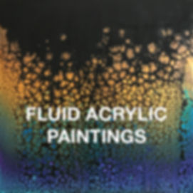 """Image of fluid acrylic painting """"Rising"""" by Irene Hardy"""