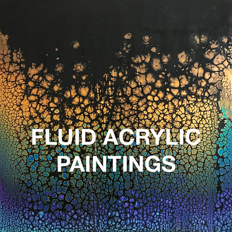 "Image of fluid acrylic painting ""Rising"" by Irene Hardy"