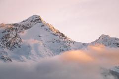 Peach alpenglow in Whistler - Spirit Bird Media
