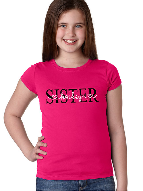 personalized products and gifts hockey sister t-shirt pink