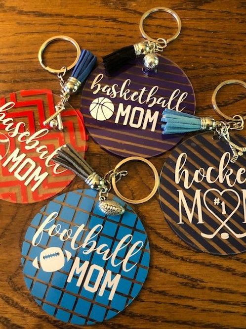 SPORT Mom Keychain