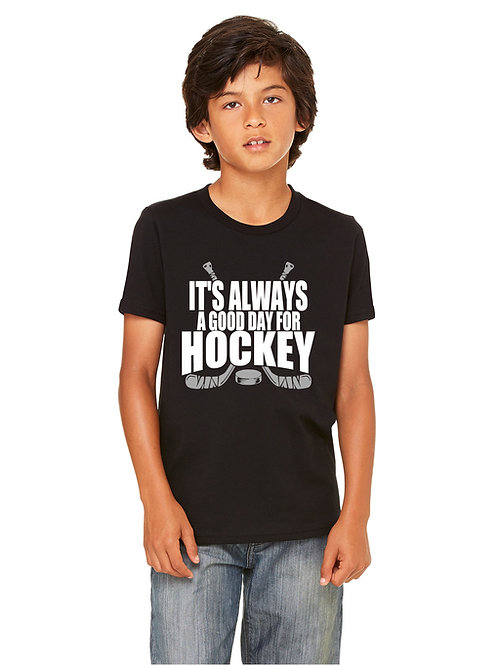 personalized products and gifts good day for hockey t-shirt black