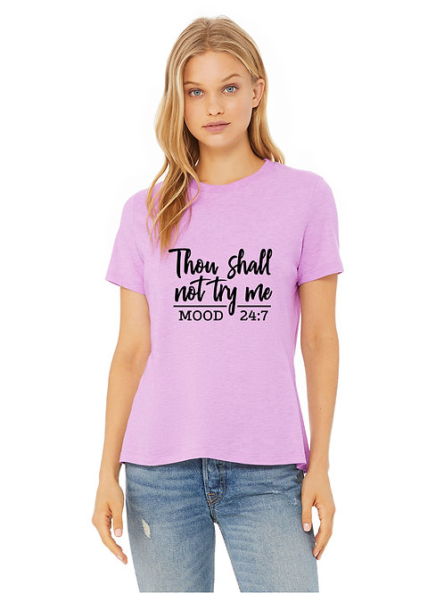 personalized products and gifts thou shall not try me t-shirt pink