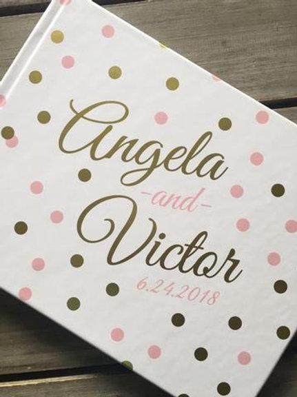 Personalized Flat Foil Guest Book