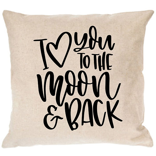 I <3 You to the Moon and Back Pillow