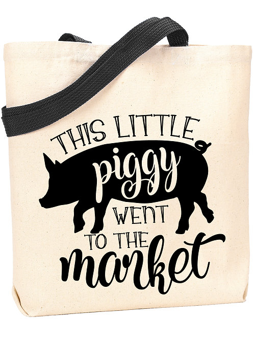 This Little Piggy Went to the Market Tote
